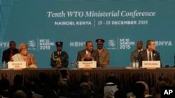 Conference de l'OMC à Nairobi au Kenya.
