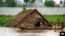 Past flooding in Cambodia. Provincial officials said Friday that flooding has inundated thousands of homes in northeast Cambodia, after heavy rains swelled the Mekong River.