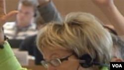 Doris pack u trenutku glasanja o novoj rezoluciji EP o BiH