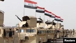 Lực lượng an ninh Iraq đến Mosul để chiến đấu chống lại quân đội Nhà nước Hồi giáo, ngày 21 tháng 2 năm 2016.