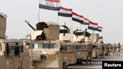 伊拉克安全部隊驅車前往摩蘇爾趕出伊斯蘭國激進分子(2016年2月21日)