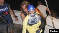 El fin de la travesía de la nadadora Diana Nyad