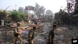 抗议者营地被暴力清场后的开罗