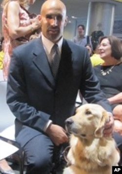 Matthew Sapolin, who is blind, is the Commissioner of the the Mayor's Office for People with Disabilities