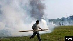 El presidente de Bolivia Evo Morales también calificó de imperdonable la represión policial contra los indígenas.