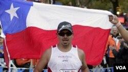 El minero chileno Edison Peña, también fue invitado a participar de la maratón de Nueva York.