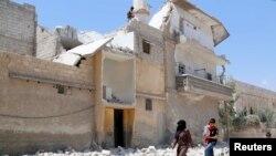 遭到轰炸后的阿勒颇(5月14日)