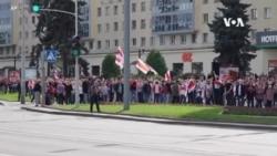 白俄羅斯抗議者再次聚集在明斯克