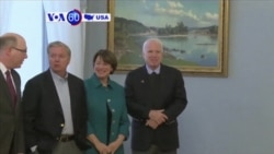 VOA60 America - US Senators visiting Baltic allies called for sanctions against Russia