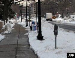 白雪覆盖的华盛顿街景