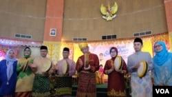 """Kemeriahan """"Festival Saprahan"""" untuk merayakan hari jadi kota Pontianak, 23 Oktober 2018. (Foto: Radio Bomantara FM Singkawang dan GencilNews Pontianak)"""
