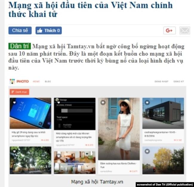 Mạng xã hội đầu tiên của Việt Nam, Tamtay.vn, đóng cửa ngày 1/1/2018