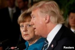 Angela Merkel və Donald Tramp
