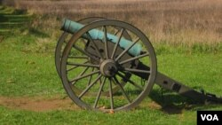 A Civil War-era cannon on Maryland's Antietam National Battlefield Park. (Credit: Joe De Capua)
