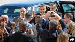 Президент Барак Обама прибыл в Нью-Йорк