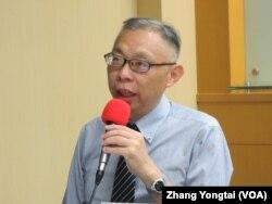 台灣師範大學政治系教授范世平(美國之音張永泰拍攝)