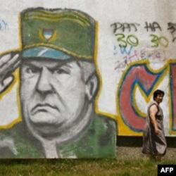 Grafiti sa Mladićevim likom