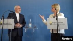 مارگو والستروم و محمدجواد ظریف وزرای خارجه سوئد و ایران