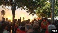 Protest u Podgorici (Foto: VOA)