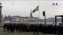 İsveç'te Kamyon Saldırısında Ölenler İçin Anma Töreni Düzenlendi