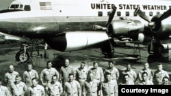 Members of the Weather Bureau's DC-6 operations unit were involved in Project StormFury, a cloud seeding experiment. (Credit: NOAA Photo Library)