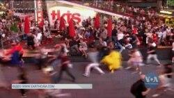 Паніка на головній площі Нью-Йорка: люди прийняли звуки вихлопної труби мотоцикла за вогнепальні постріли. Відео