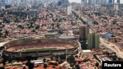 Le stade Estadio da Cidadela au centre de Luanda, en Angola, le 4 mai 2014.