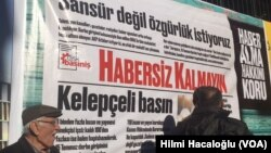 Suasana di depan surat kabar Cumhuriyet, Turki (Foto: dok).