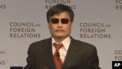 中國盲人活動人士陳光誠(資料圖片)