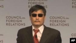 ທ່ານ Chen Guangcheng ນັກເຄື່ອນໄຫວຕາບອດຈີນ