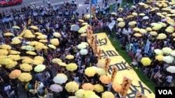 港人重返政總紀念雨傘運動一周年 (圖片集)