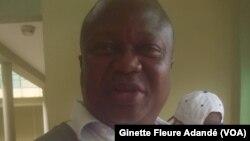 Richard d'Almeida, secrétaire général des travailleurs de l'aéroport à Cotonou, le 14 juin 2017. (VOA/Ginette Fleure Adandé)