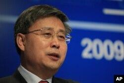 可能接任央行行长的中国证监会主席郭树清(资料照片)