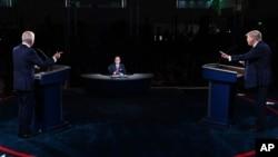 Joe Biden e Donald Trump no debate