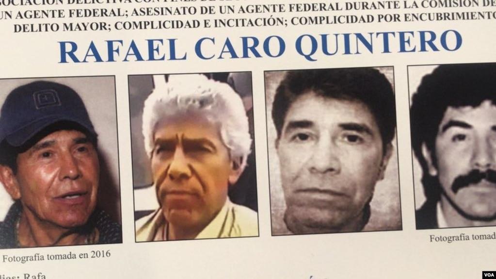 Rafael Caro Quintero, de 66 años, fue incluido en la lista de los 10 prófugos más buscados del FBI.