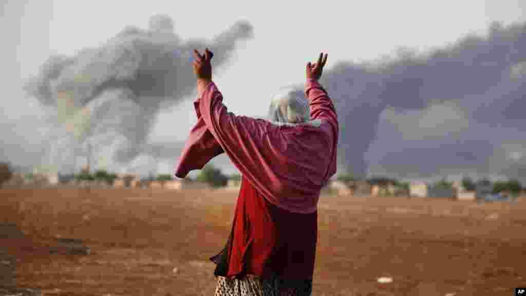 Kobani a Siriya, 14 ga Oktoba, 2014.