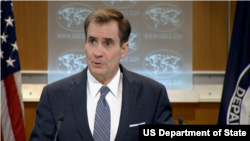 "U.S. State Department spokesman John Kirby, speaking Monday, said U.S. officials have seen Saudi media reports of the detentions, and that diplomats are in contact with authorities in Riyadh. He told reporters he could not verify ""the actual truth of these reports."" (File photo)"