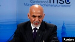 FILE - President Ashraf Ghani and an Afghan delegation will visit the White House on Tuesday during a four-day trip to the U.S.