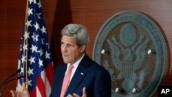 2016年7月12日,美国国务卿克里在华盛顿。