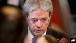 Italian Foreign Minister Paolo Gentiloni.