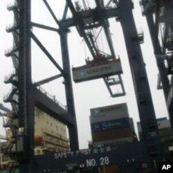 广东省的一个集装箱码头(资料照片)