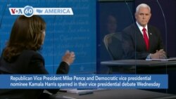 VOA60 Ameerikaa - Vice President Mike Pence and Senator Kamala Harris sparred in their Vice-Presidential debate