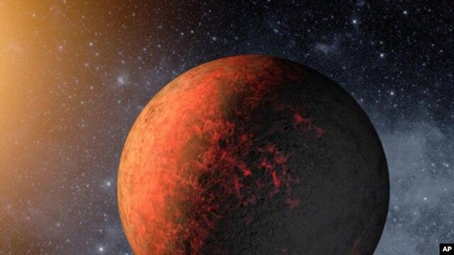 An artist's conception illustrates Kepler-20e. Image credit: NASA/Ames/JPL-Caltech