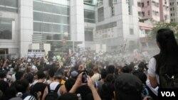 參加示威大遊行的香港市民(資料照片)