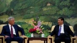 4月9日美国国防部长哈格尔在北京与中国国家主席习近平举行会晤(美国国防部)