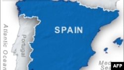 Peta wilayah Spanyol.