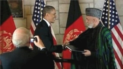 Top Afghan Officials Welcome Pact with US