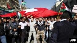 Người biểu tình chống chính phủ xuống đường ở thủ đô Amman đòi thực hiện những cải cách sâu rộng về chính trị và kinh tế