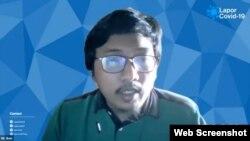Data Analyst LaporCovid-19 Said Fariz Hibban dalam telekonferensi pers di Jakarta, Kamis (22/7) mengatakan pasien COVID-19 yang meninggal saat isoman paling banyak berasal dari DKI Jakarta (VOA).