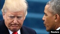 Predsednik SAD Donalda Tramp i bivši predsednik Barak Obama